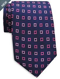 Keys & Lockwood Repeating Diamond Silk Tie