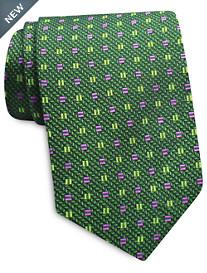 Keys & Lockwood Box Neat Silk Tie