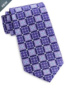 Geoffrey Beene Floral Medallion Tie