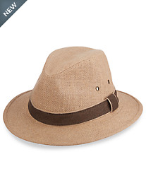 Dorfman Pacific® Hemp Safari Hat with Leather Trim