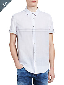 Calvin Klein Jeans Abstract Grid Print Sport Shirt