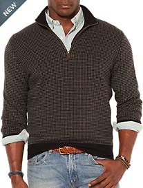 Polo Ralph Lauren® Loryelle Houndstooth Half-Zip Pullover
