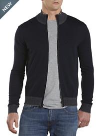 Michael Kors® Contrast-Trim Zip-Front Cardigan
