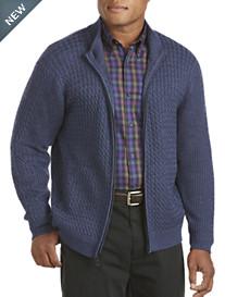 Cutter & Buck® Darius Cable Full-Zip Cardigan