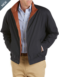 Remy Water-Resistant Leather-Trim Bomber Jacket