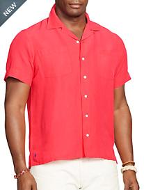Polo Ralph Lauren® Linen/Silk Solid Camp Shirt