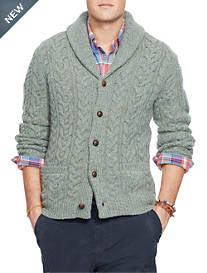 Polo Ralph Lauren® Brownstone Cable-Knit Shawl-Collar Cardigan