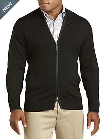 Peter Millar® Tipped Zip-Front Merino Wool Cardigan