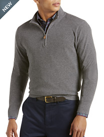 Brooks Brothers® Cotton/Cashmere Quarter-Zip Sweater