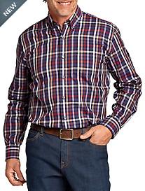 Cutter & Buck® Hillclimb Plaid Poplin Sport Shirt