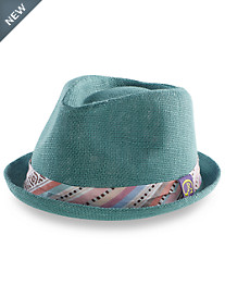 Robert Graham® Fedora with Aztec-Print Hatband