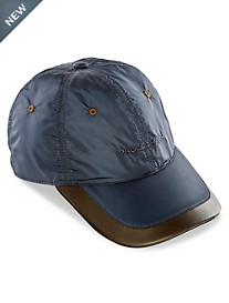Paul & Shark® Leather-Trim Nylon Baseball Cap