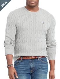 Polo Ralph Lauren® Cable-Knit Cotton Crewneck Sweater