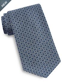 Brioni Heathered Medallion Silk Tie