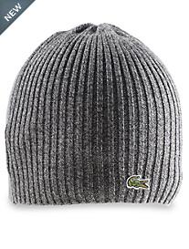 Lacoste® Croc Ribbed-Knit Merino Wool Beanie