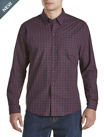 Cutter & Buck® Orchard Jacquard Plaid Poplin Sport Shirt