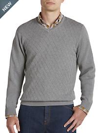 Cutter & Buck® Diamond-Patterned V-Neck Sweater