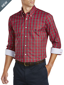 Brooks Brothers® Non-Iron Holiday Tartan Plaid Basketweave Sport Shirt