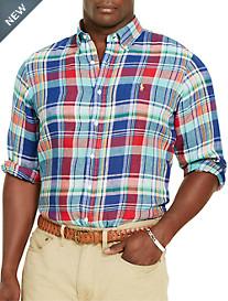 Polo Ralph Lauren® Bold Plaid Linen Sport Shirt