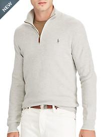 Polo Ralph Lauren® Textured Pima Cotton Half-Zip Sweater