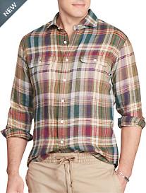 Polo Ralph Lauren® Exploded Plaid Linen Work Shirt