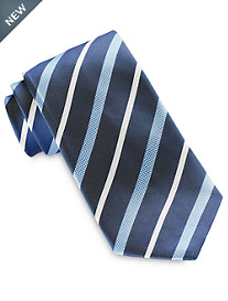 Brioni Heather Stripe Silk Tie