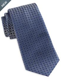Brioni Small Mixed Shape Neat Silk Tie