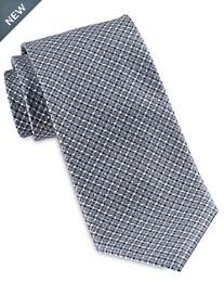Brioni Diamond Tonal Silk Tie