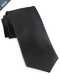 Brioni Satin Solid Silk Tie