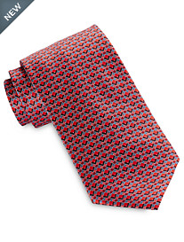 Brioni Abstract Geo Neat Silk Tie