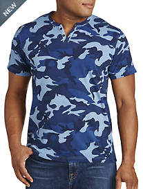 Lucky Brand® Notch-Neck Camo Tee