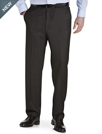 Ballin Comfort-EZE Textured Grid Flat-Front Dress Pants