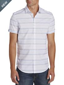 Calvin Klein® Sport Wide Horizontal Stripe Sport Shirt