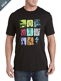 Robert Graham® Colored Square Graphic Tee