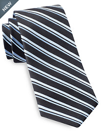 Michael Kors® Single Rib Stripe Silk Tie