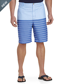 Rochester Printed Stripe Board Shorts