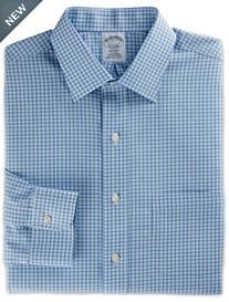 Brooks Brothers® Non-Iron Framed Mini Check Dress Shirt