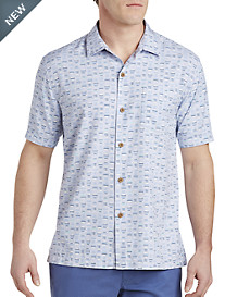 Tommy Bahama® Geo Chaser IslandZONE® Camp Shirt