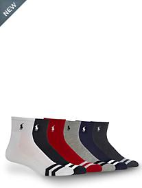 Polo Ralph Lauren® 6-pk Sport Chevron Quarter-Top Socks