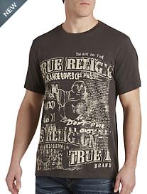 True Religion® Cut-Up Buddha Tee