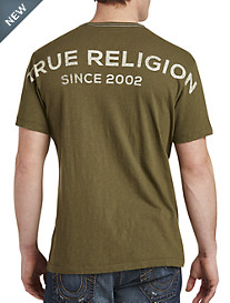 True Religion® Stacked Logo Tee