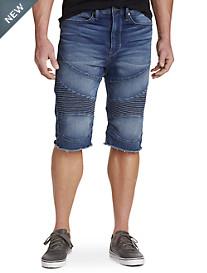 True Religion® Moto-Inspired Cutoff Shorts – Cloud Cast Wash