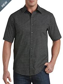 Twenty-Eight Degrees Square & Dot Print Sport Shirt