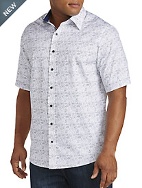 Twenty-Eight Degrees Tropical Print Sport Shirt
