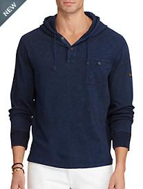Polo Ralph Lauren® Indigo-Dyed Hooded Jersey Henley