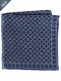 Rochester Geometric Floral Silk Pocket Square