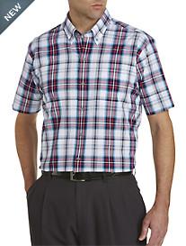 Cutter & Buck™ Wrinkle-Free Nicolai Plaid Poplin Sport Shirt