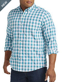 Cutter & Buck® Wrinkle-Free Villa Creek Check Poplin Sport Shirt