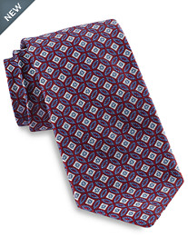 Robert Talbott Large Pieced Circle Medallion Silk Tie
