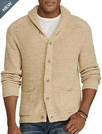 Polo Ralph Lauren® Cotton/Linen Shawl-Collar Cardigan
